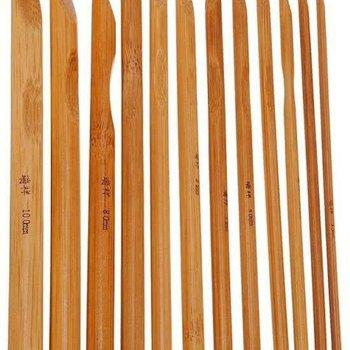Bamboo 12-Delige Ergonomische Haaknaalden