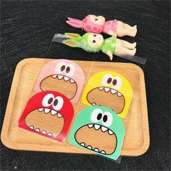 100x Transparante Uitdeelzakjes Groen - Cellofaan Plastic Traktatie Kado Zakjes - Snoepzakjes Cookie monster