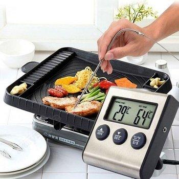 Digitale Voedselthermometer & Timer incl 1 meter kabel