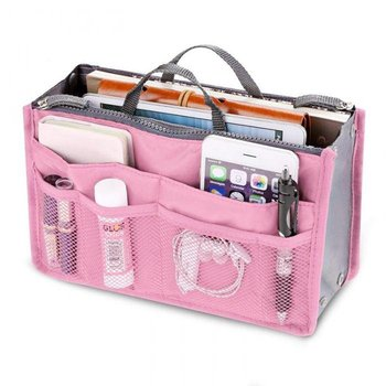 Roze Bag in Bag Organizer