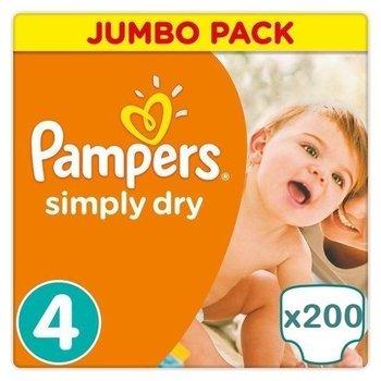 Pampers Simply Dry Maandbox maat 4 - 200 luiers