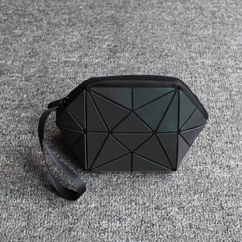Zwarte Geometrische make up tasje