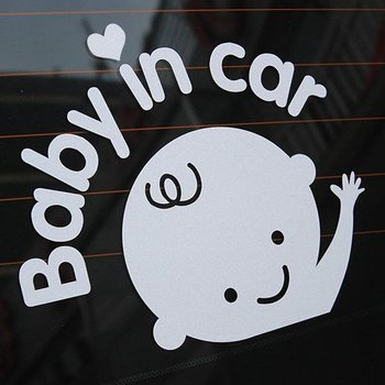 Baby in Car autosticker Boys