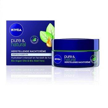Nivea Visage Pure&Natural Nachtcreme Herstel - 50ml