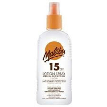 Malibu Zonnebrand Lotion Spray 200ml SPF 15