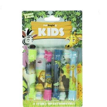 JUNGLE opzetborstels voor KIDS geschikt voor Oral-B 4st