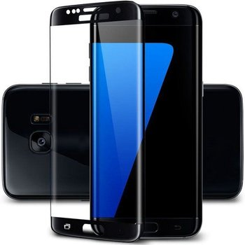 Samsung S7 Edge Screenprotector Tempered Glass Black