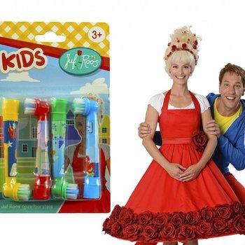 Juf Roos opzetborstels Kids passend op Oral-B Universeel 4 stuks