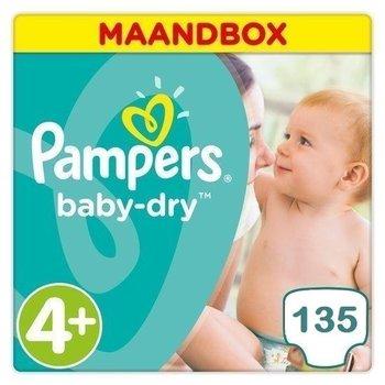 Pampers Baby Dry Maat 4+ - 135 Luiers Maandbox