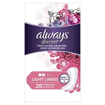 Always Discreet Light Liners 28st
