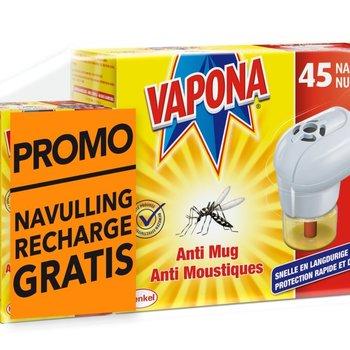 Vapona Anti Mug Stekker Promo + 2 navul