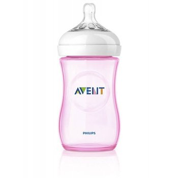 Avent Zuigfles Natural 260ml Roze 1 st