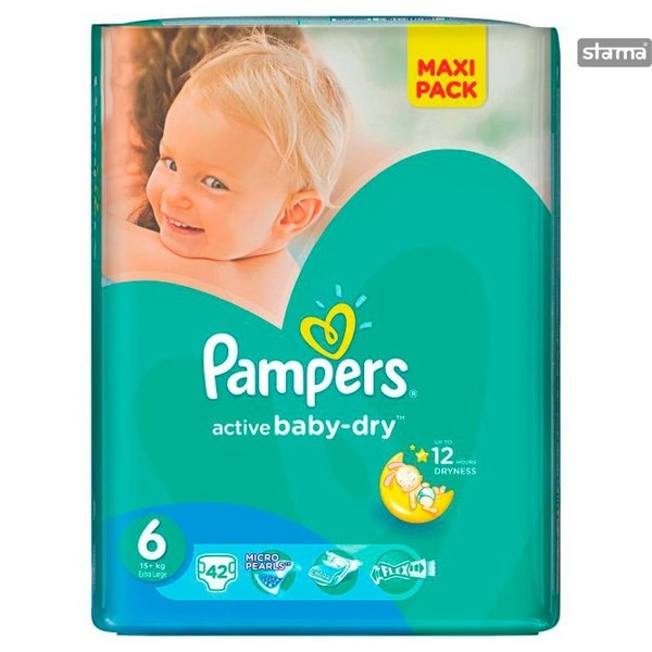 Pampers Active Baby Dry maat 6 - 84st
