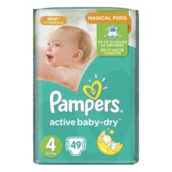 Pampers Active Baby Dry maat 4 - 98st