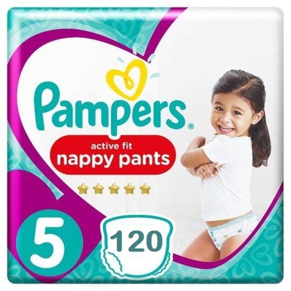 Pampers Pampers Premium Protection Pants Active fit Maat 5 Luierbroekjes 120 stuks