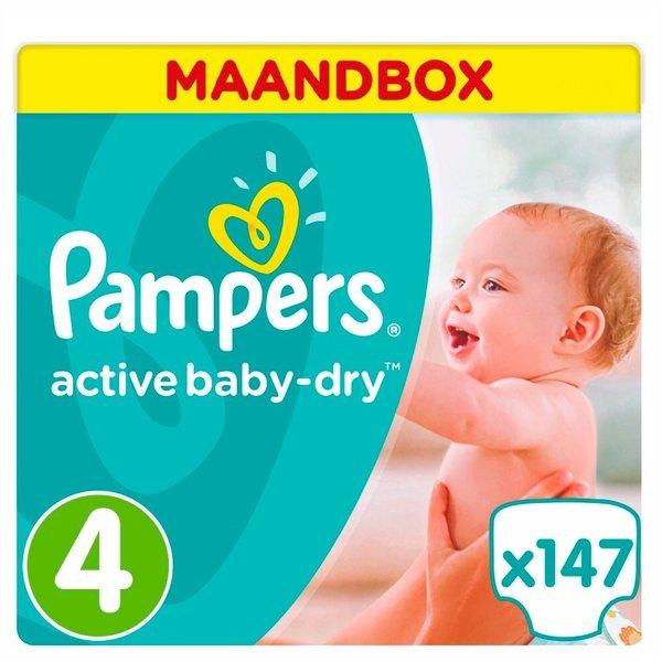 Pampers Pampers Active Baby Dry Maandbox Maat 4 - 147st