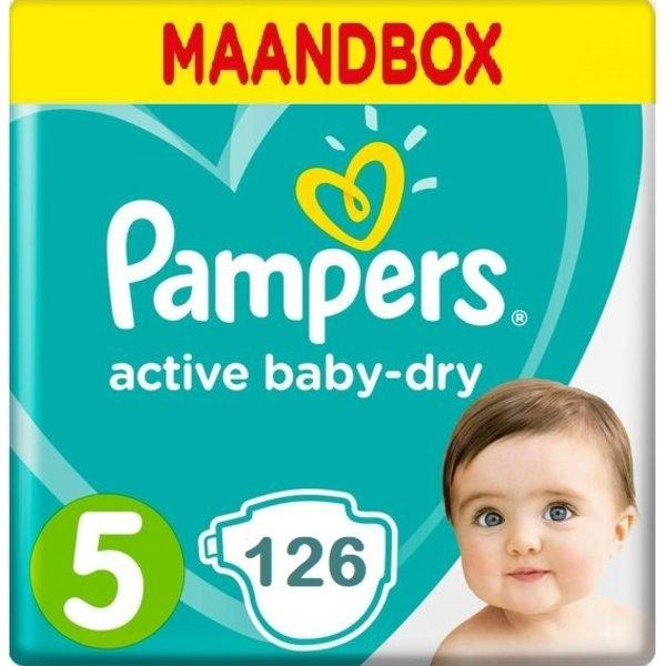 Pampers Pampers Active Baby Dry Maandbox Maat 5 - 126st