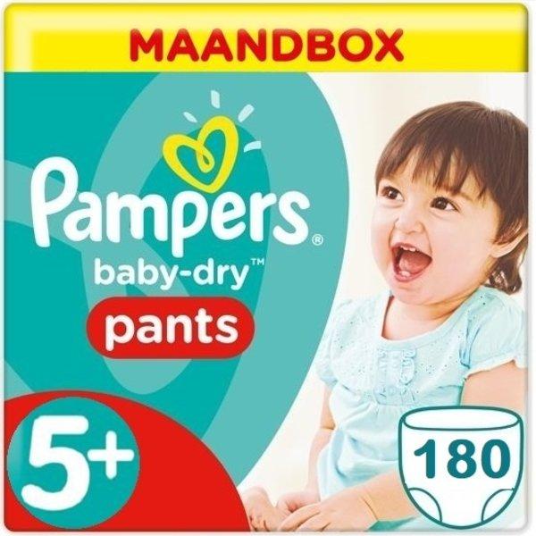 Pampers Pampers Baby Dry Pants Maandbox XL Maat 5+ - 180 Stuks