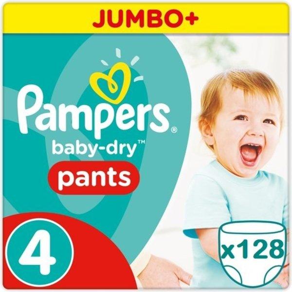 Pampers Pampers Baby Dry Pants Voordeelverpakking Maat 4  - 128 Stuks