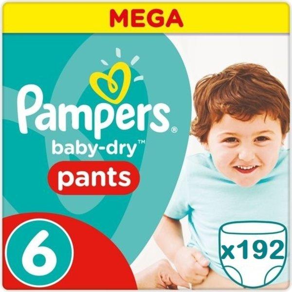 Pampers Pampers Baby Dry Pants Maandbox XXL Maat 6 - 192 Stuks