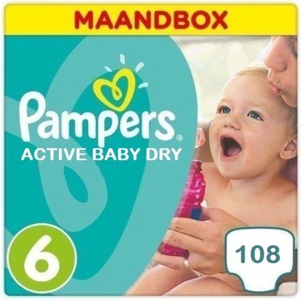 Pampers Pampers Active Baby Dry Maandbox Maat 6 - 108 Luiers