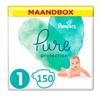 Pampers Pampers Pure Protection Maat 1- 150 Luiers Maandbox