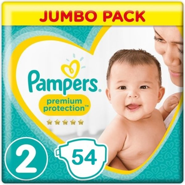 Pampers Pampers Premium Protection Maat  2 - 54 Luiers