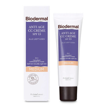 Biodermal Dagcrème 50 ml Anti Age CC Crème SPF15 Medium