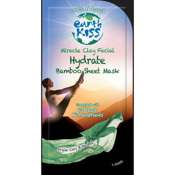 Earth Kiss Earth Kiss Gezichtsmasker 24 gram Hydrate Bamboo Sheet