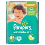 Pampers Pampers Active Baby Dry Maat 4+ - 39 Luiers