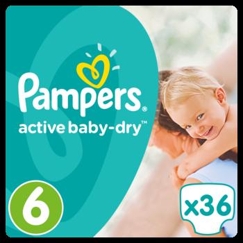 Pampers Active Baby Dry Maat 6 - 36 Luiers
