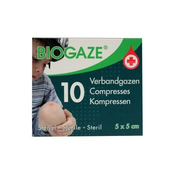 Biogaze Verbandgazen 5x5 -  10st