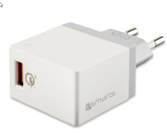 4SMARTS Netz Ladegerät 18W - Schnellladegerät weiss
