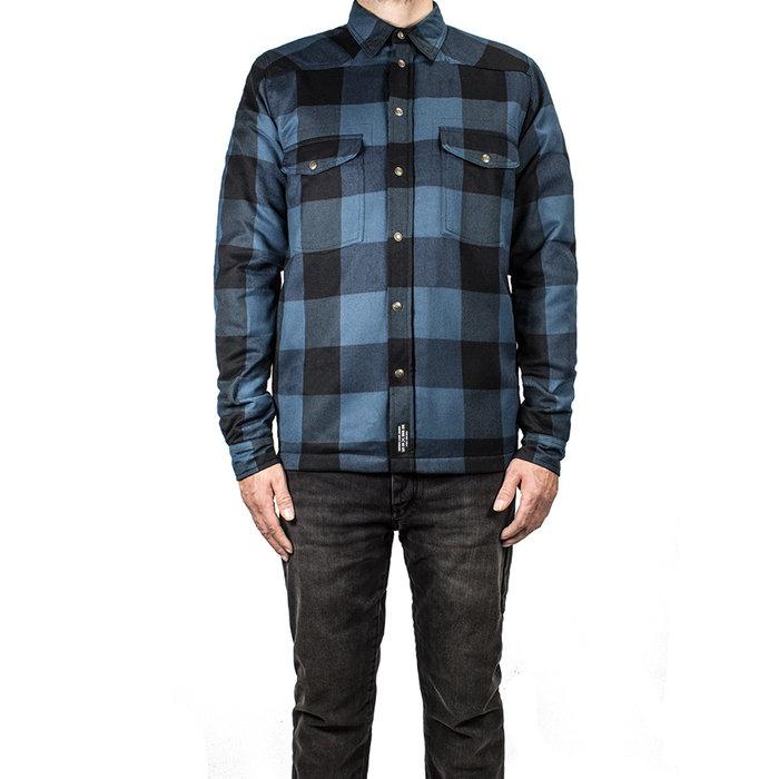 John Doe Motoshirt lumberjack blue-black