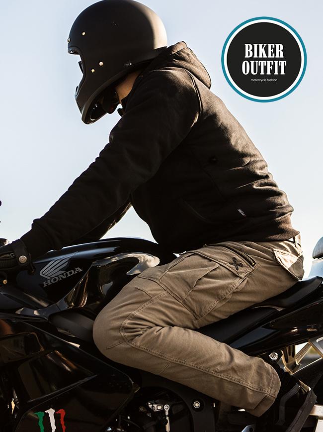 John Doe Stroker Motorrad Hose Camel-XTM