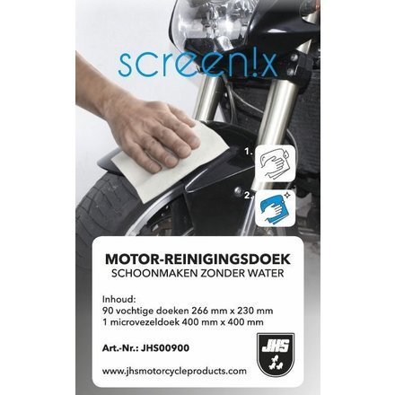 JHS Motorcyle products Cleaning without water