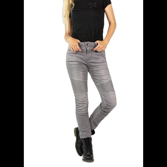 John Doe Betty Biker Jeans light grey