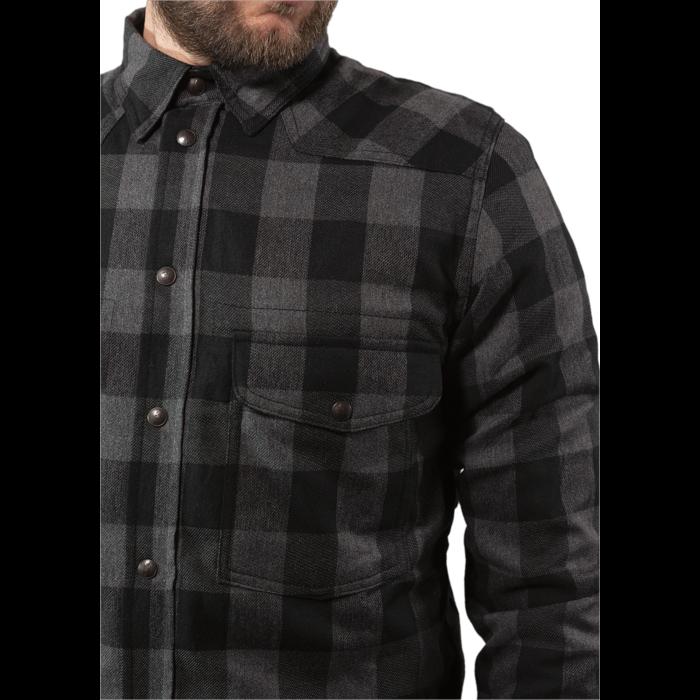 John Doe Motoshirt lumberjack grey-black