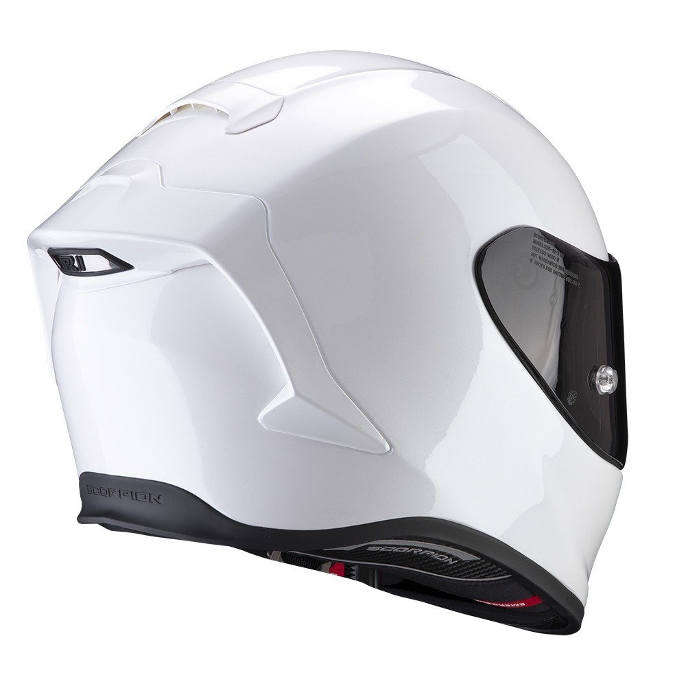 Free P/&P Scorpion EXO 1400 Air Solid Pearl White Full Face Motorcycle Helmet