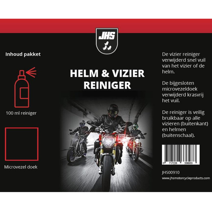 Claw Helmet & visor cleaner bottle + microfibre cloth