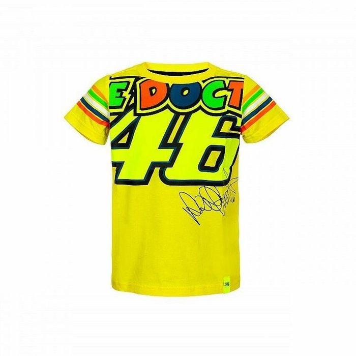 VR 46 T-Shirt Kids Stripes Yellow