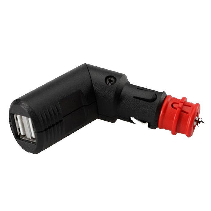 SW-Motech DUBBELE USB ADAPTER MET UNIVERSELE PLUG