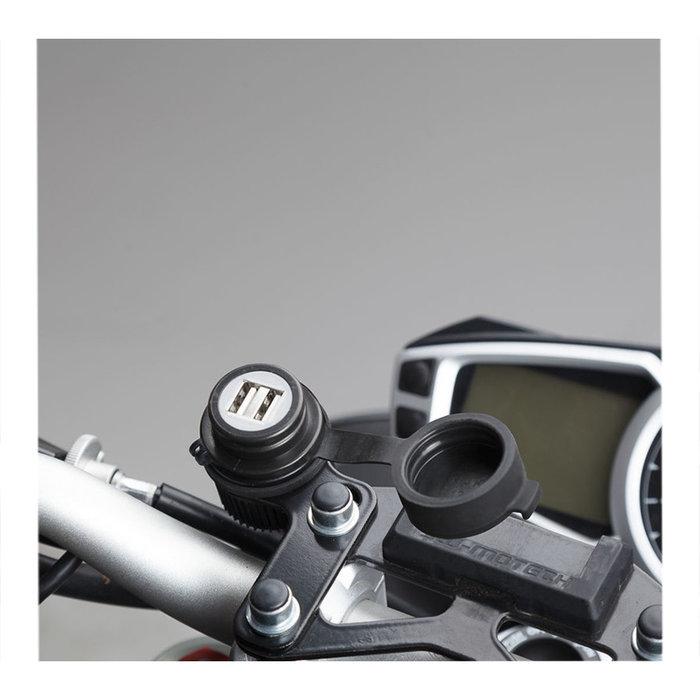 SW-Motech DUBBELE USB POORT MET KABELBOOM