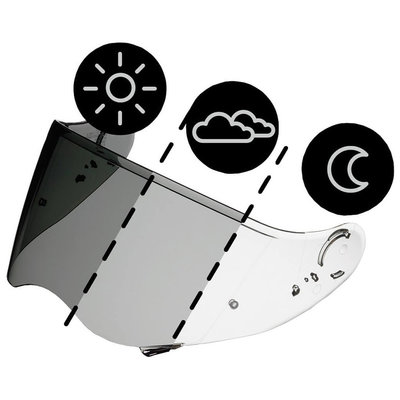 Shoei CWR-1 NXR / X-Spirit 3 PHOTOCHROMIC visor