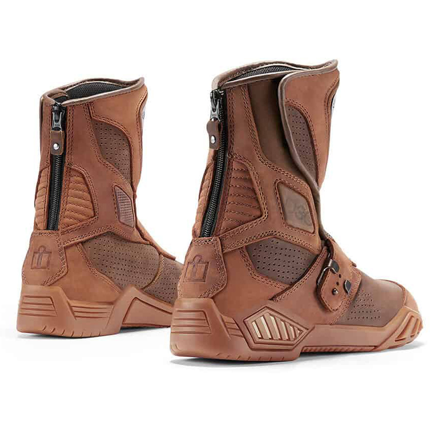 Icon Men/'s Size 10.5 Motorcycle Leather Boots Retrograde Stealth Riding