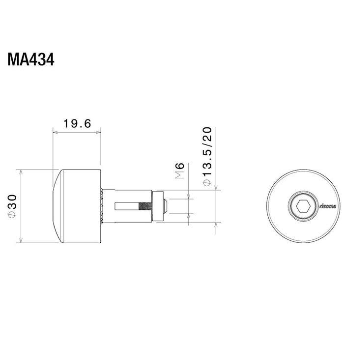Rizoma Universele spiegeladapter stuureindspiegels (MA434)