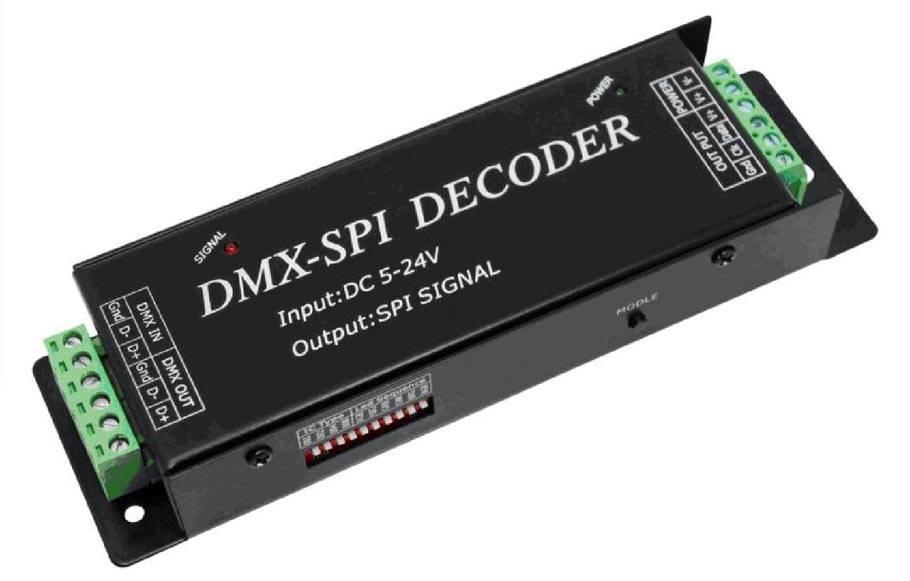 DMX naar SPI (Digitale LED Strip) Decoder