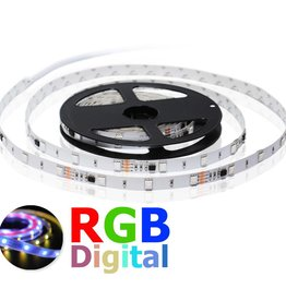 LED Strip 30 LED/m RGB Digitaal - per 50cm