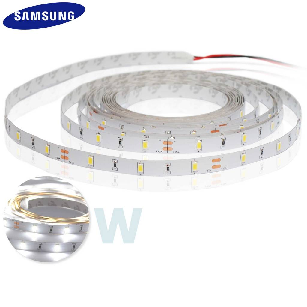 LED Strip 5630 SMD 30 LED/m Wit - per 50cm - High Power 12W/m