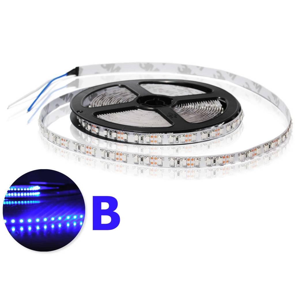 LED en bande auto-adhésive 120 LED/m Bleue - par 50cm